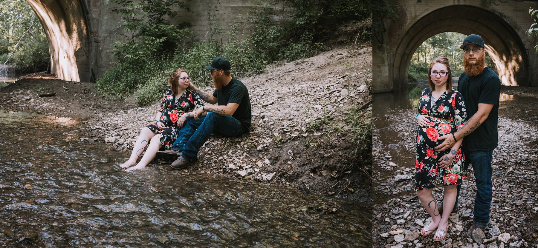 Creek Maternity Photography in Kansas City by Merry Ohler | Wedding Photographer Kansas City-14