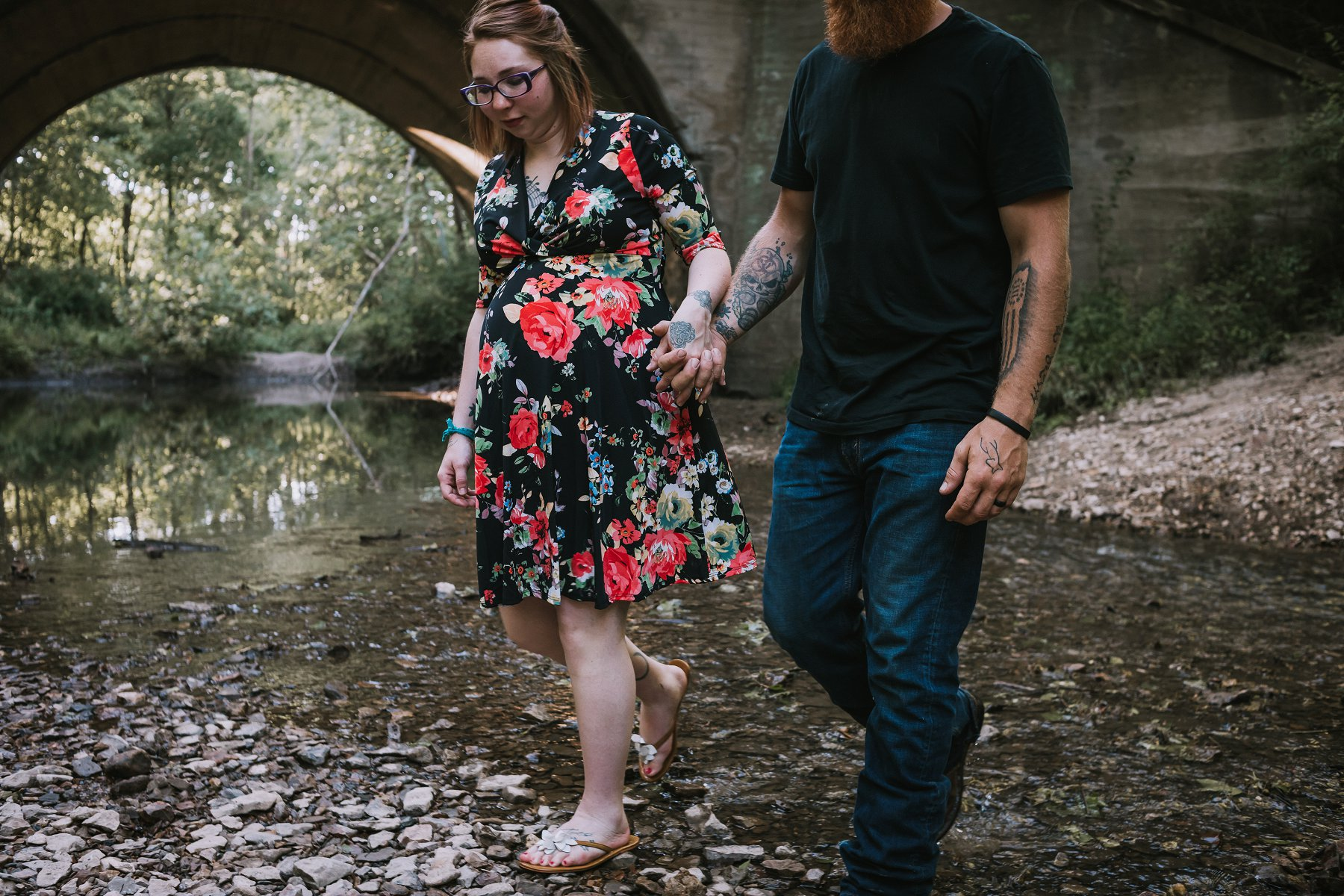 Creek Maternity Photography in Kansas City by Merry Ohler | Wedding Photographer Kansas City-23