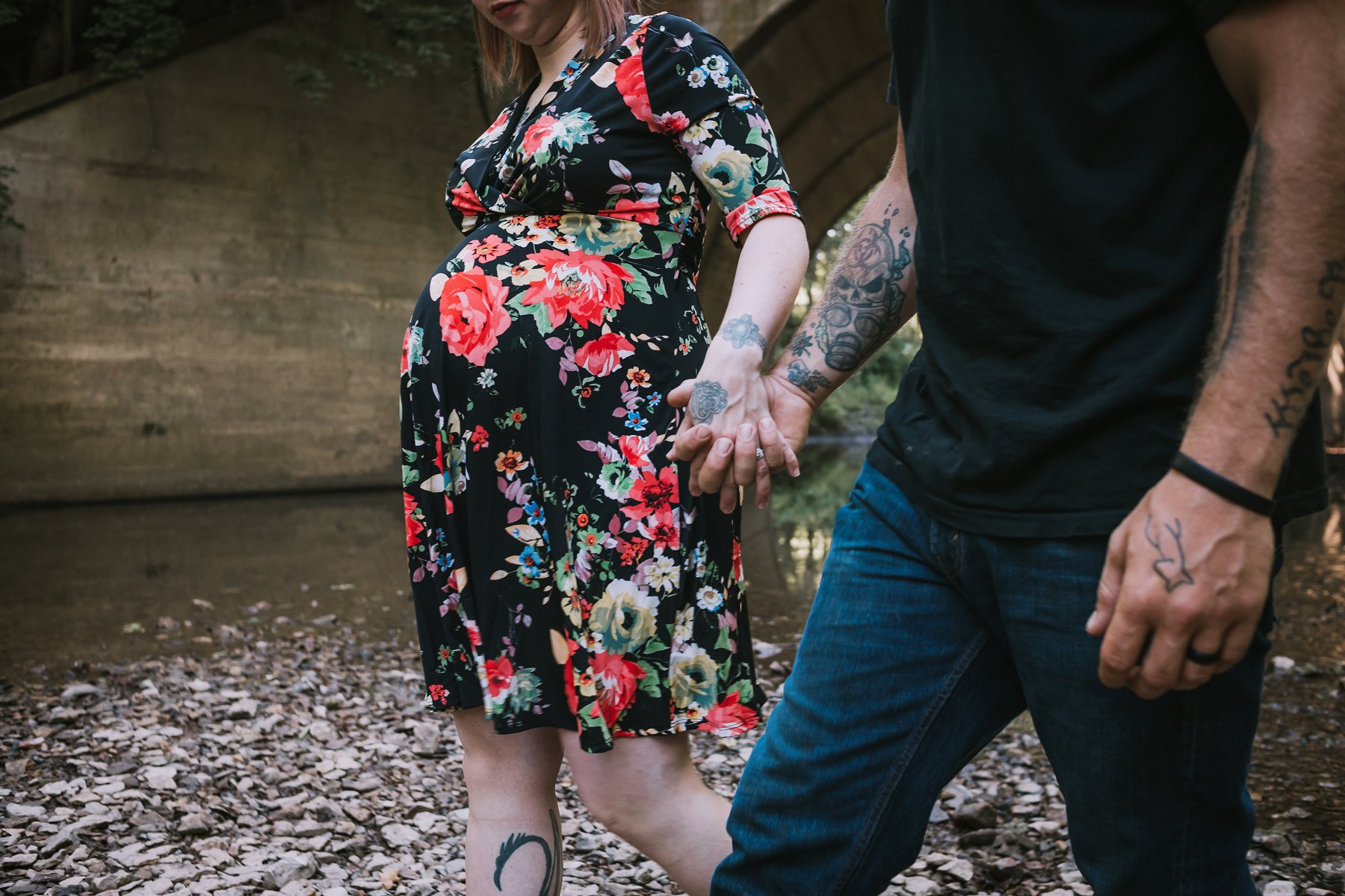 Creek Maternity Photography in Kansas City by Merry Ohler | Wedding Photographer Kansas City-25