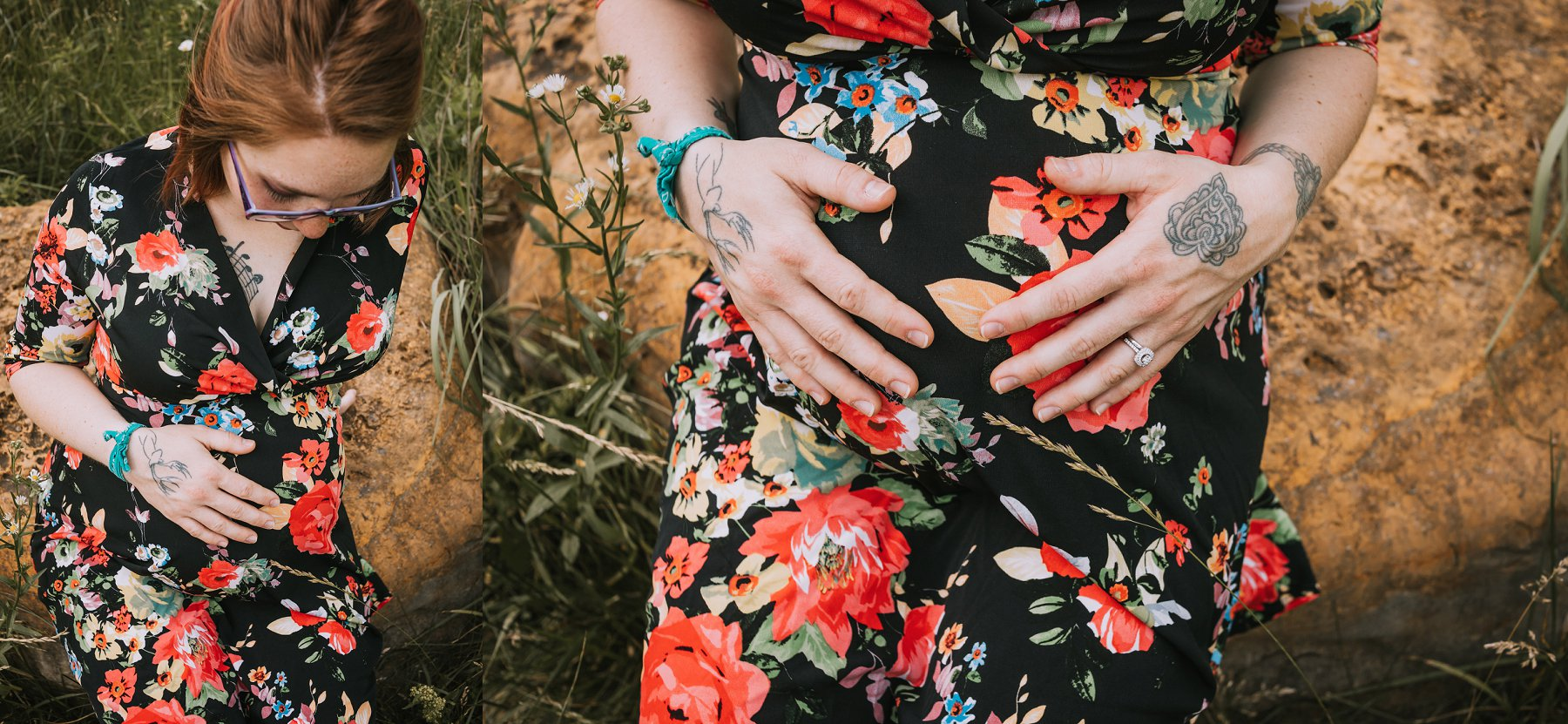 Creek Maternity Photography in Kansas City by Merry Ohler | Wedding Photographer Kansas City-30
