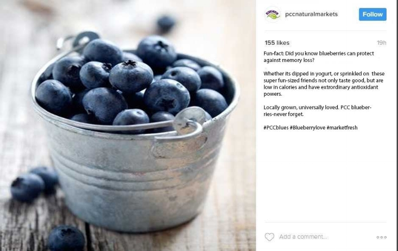 This is no hyperbole. PCC's blueberries are face meltingly good. PCC's brand is about organic, natural products and a care for the community.
