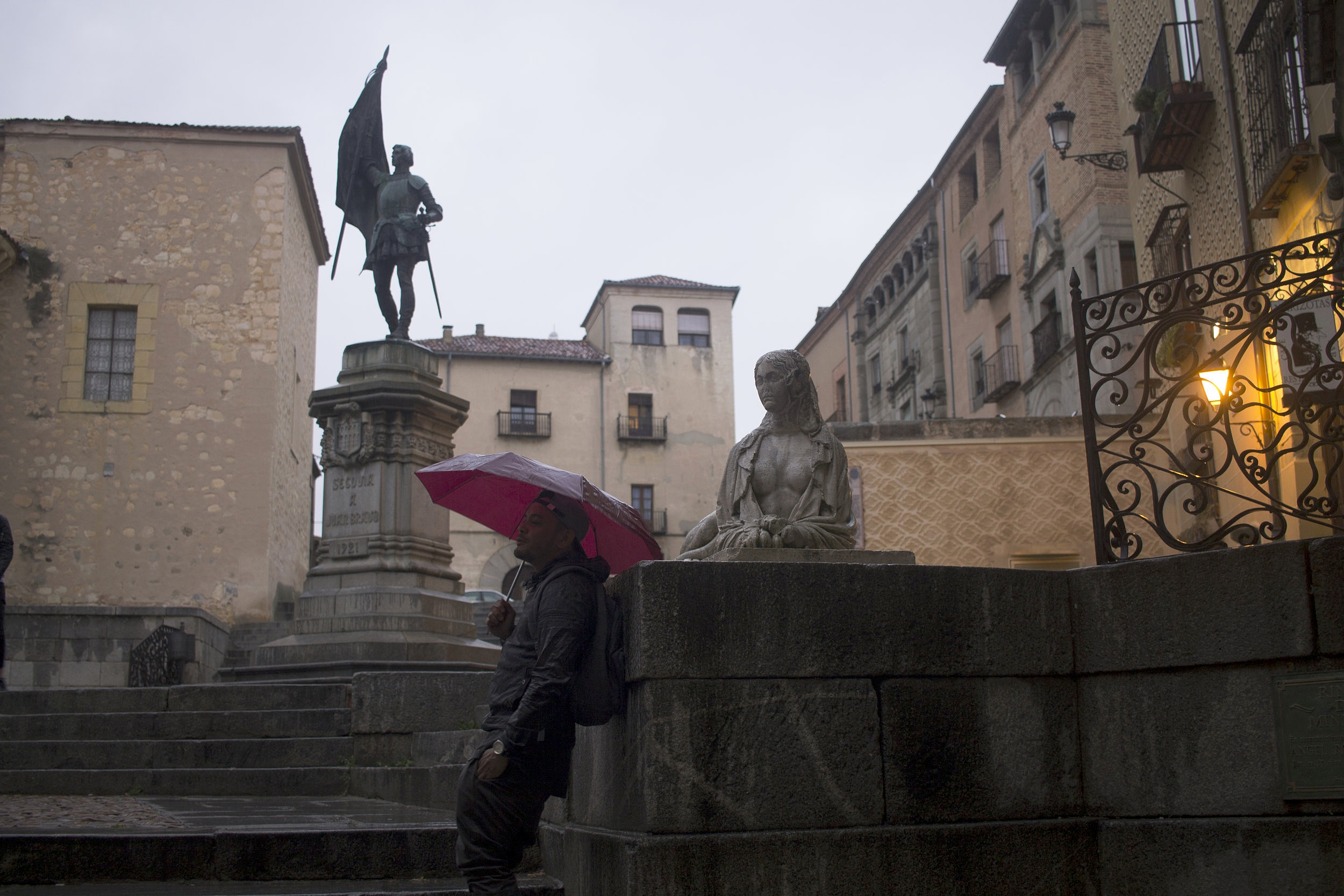 Sometimes it really does rain in Spain.