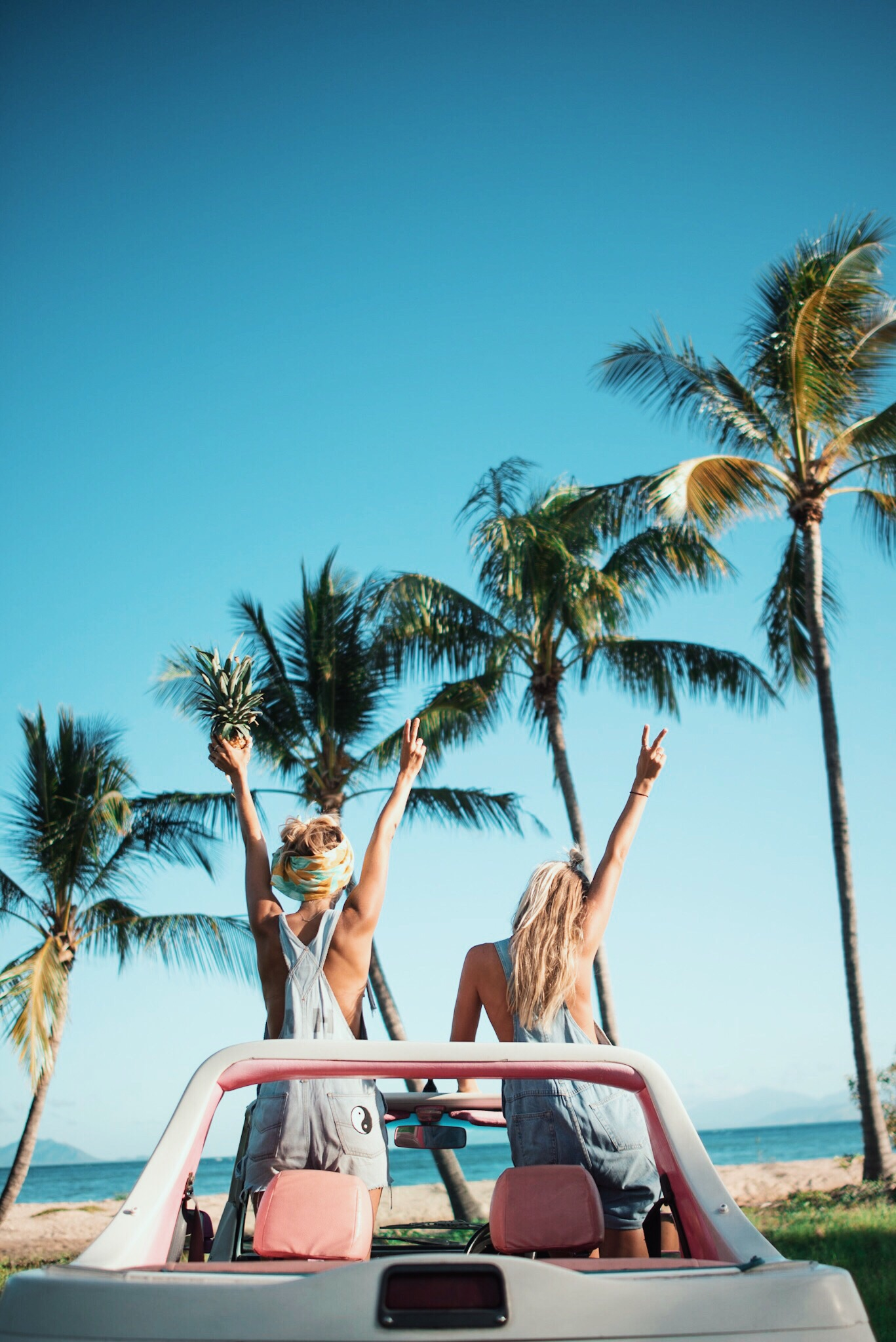 Topless in the tropical topless cars