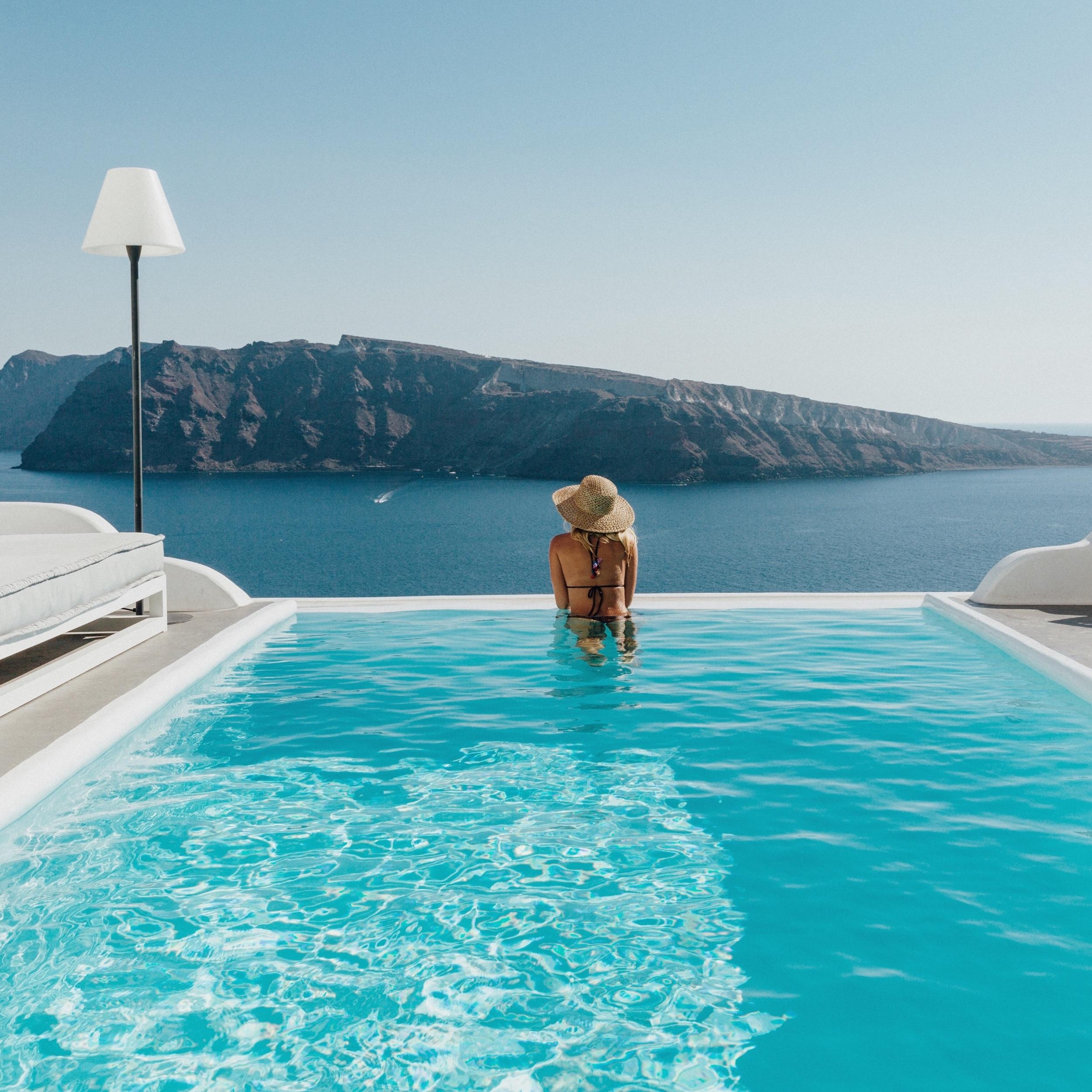 Poolside at Charisma Suites, bikini: Tigerlily Swimwear