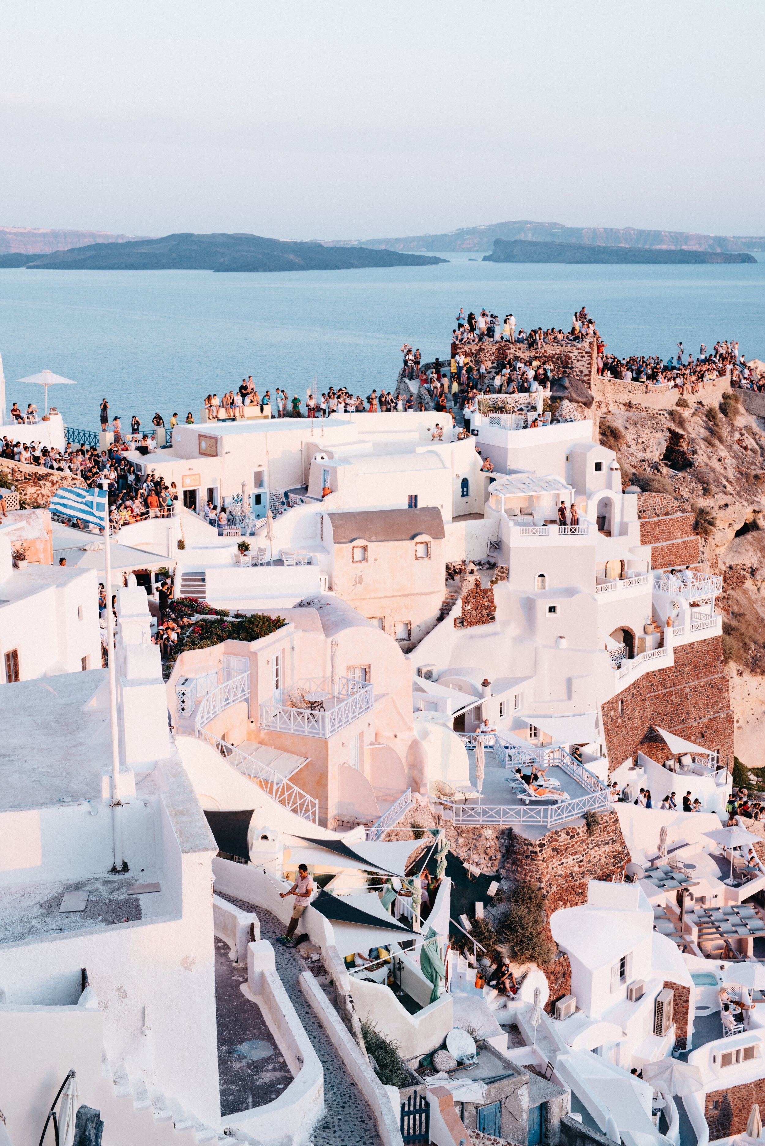 Popular sunset views at Oia