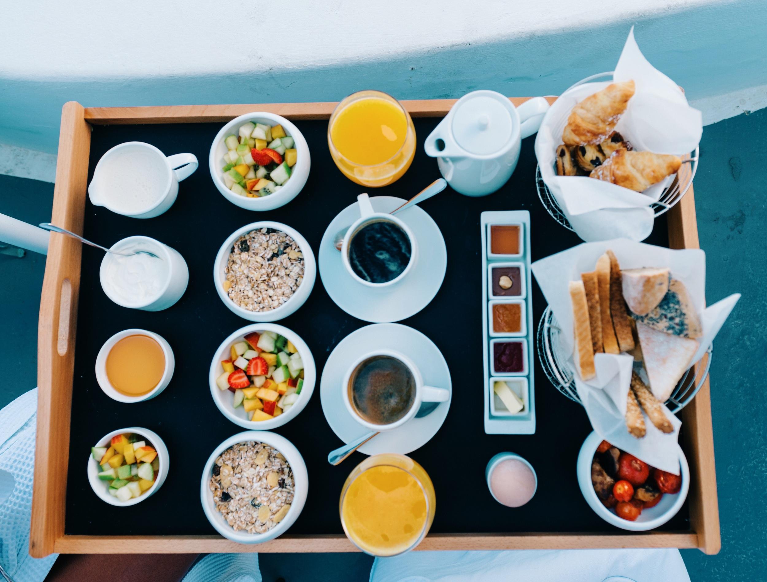 Breakfast spread: Chromata Hotel