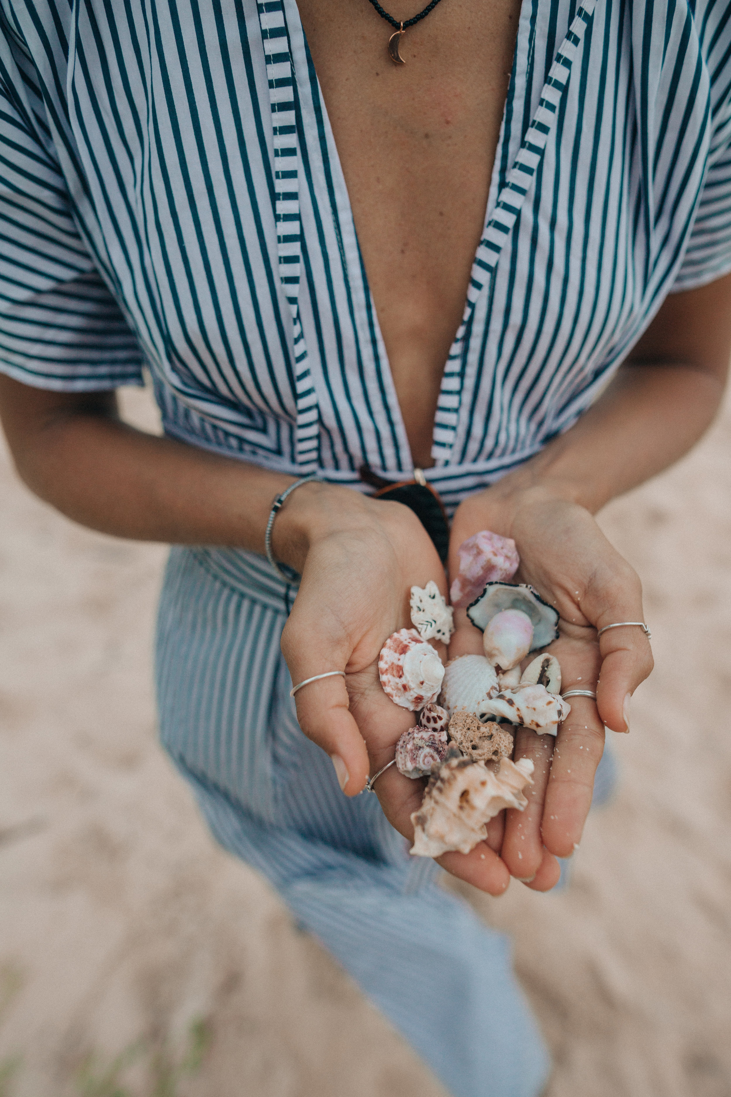 Shell collecting on the beaches of General Luna