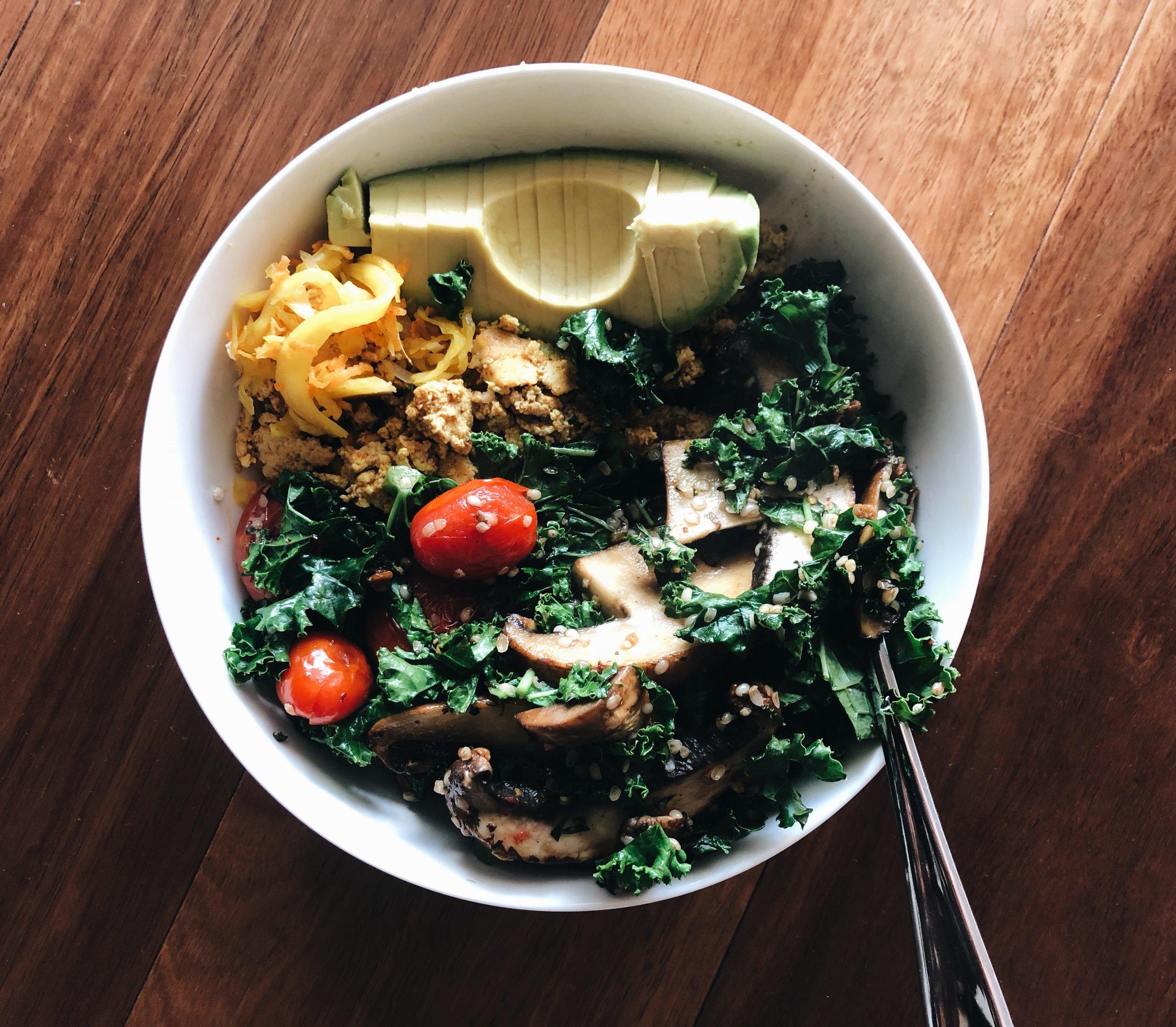 Tofu Scramble - with sautéed veg