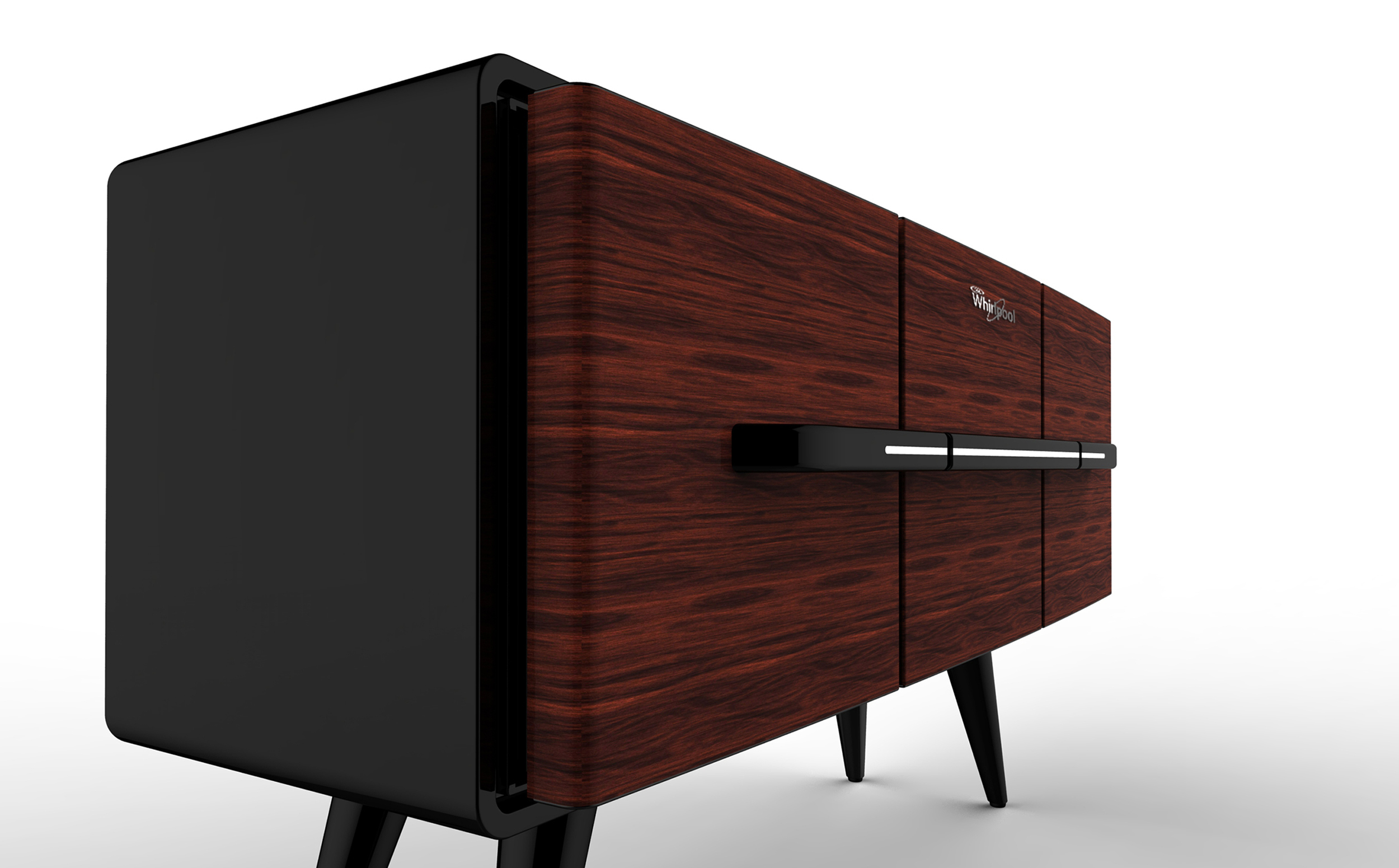 Credenza : The Furniture Refrigerator - How might we bring back the brand of Whirlpool into the living space while not be obtrusive to its environment?