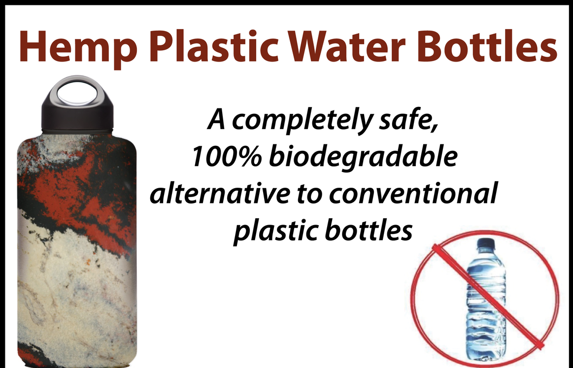 There is however still no answer for the plastic bottles that we use today. Hemp plastic can produce a plastic bottle, but the world is on a hunt to replace the transparent plastics that we use today with Hemp Bio-plastics.