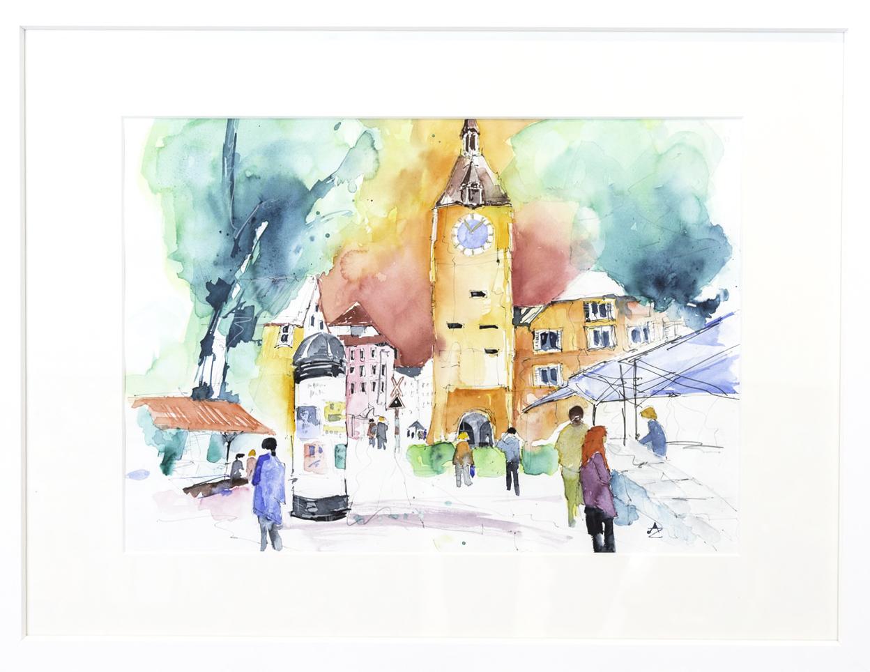 """Markttag"" 60x80cm 1,250.-"