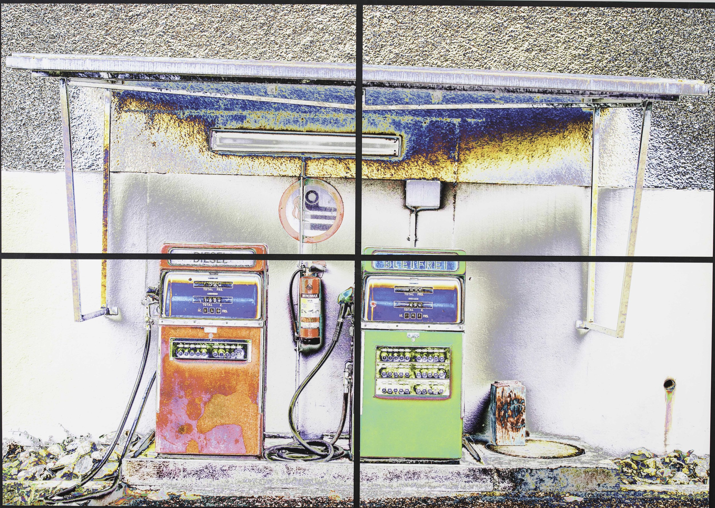 """Tankstelle"" 800x1200cms 1,300.-"