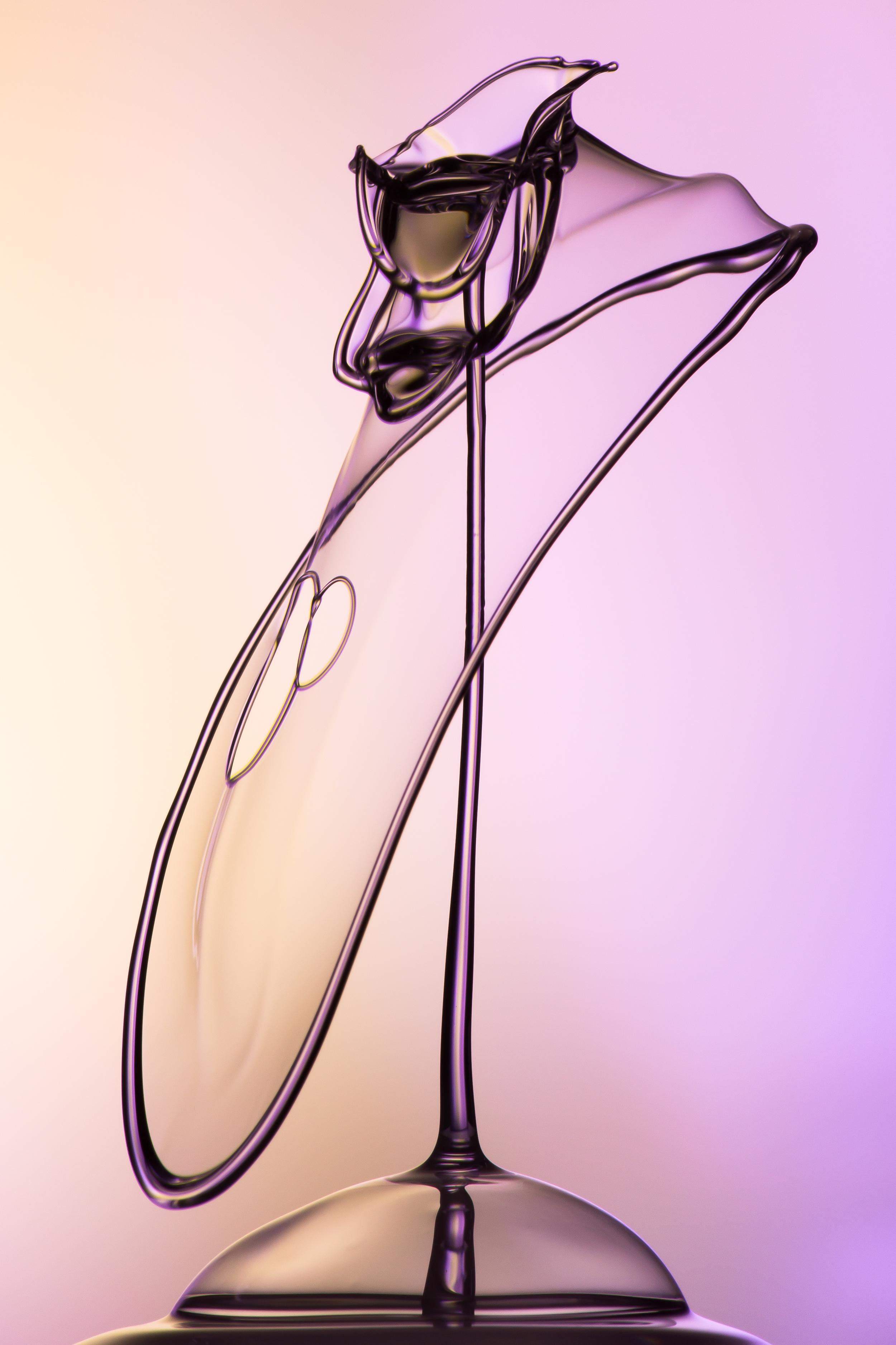 """""""Water Drop 6""""   84x126cm Fotographie auf Aluminium 1,200.-"""