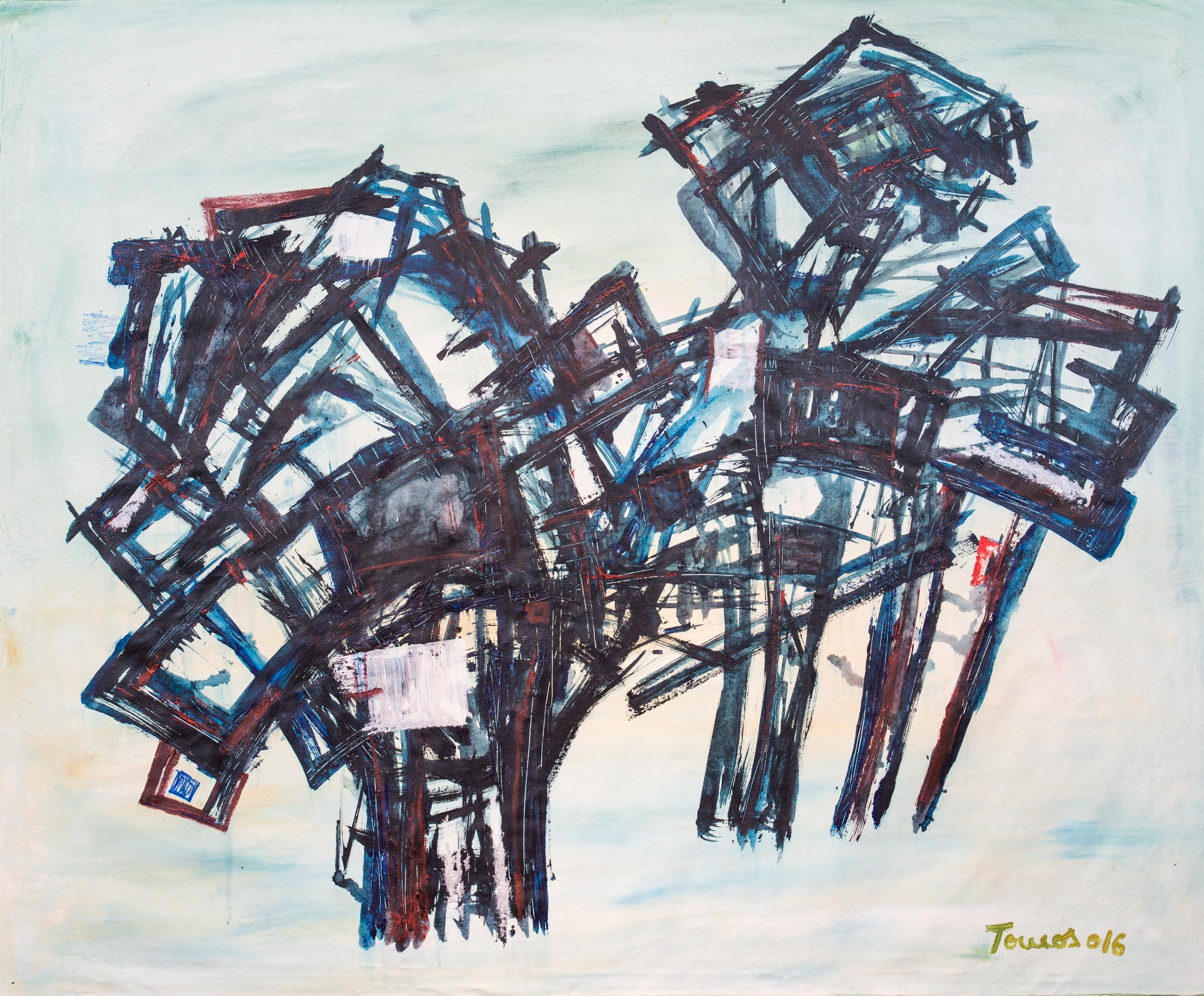 """""""Cavalo"""" 138x115cm Acryl 2016 1,800.-"""