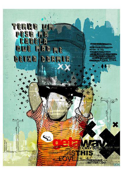 """Dor de Cabeca"" 120x90cm Digital Kunst 2011 2,500.-"