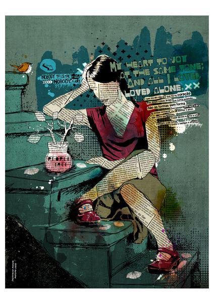 """""""Escadas"""" 120x90cm Digital Kunst 2010 2,500.-"""