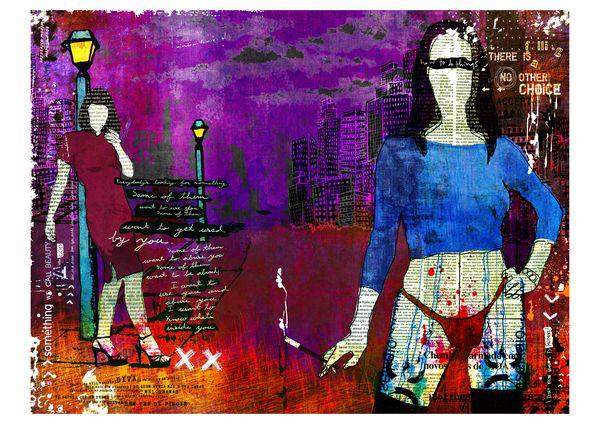 """Gaja"" 180x135cm Digitale Kunst 2010 4,500.-"
