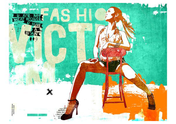 """Hot"" 120x90cm Digitale Kunst 2007 2,500.-"