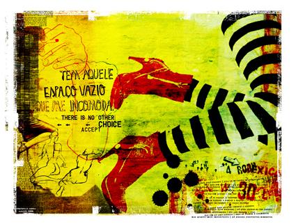"""Mulher 2"" 180x135cm Digitale Kunst 2008 4,500.-"