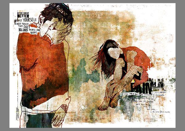 """""""So"""" 180x135cm Digital Kunst 2008 4,500.-"""