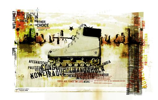 """""""War"""" 180x135cm Digitale Kunst 2008 4,500.-"""