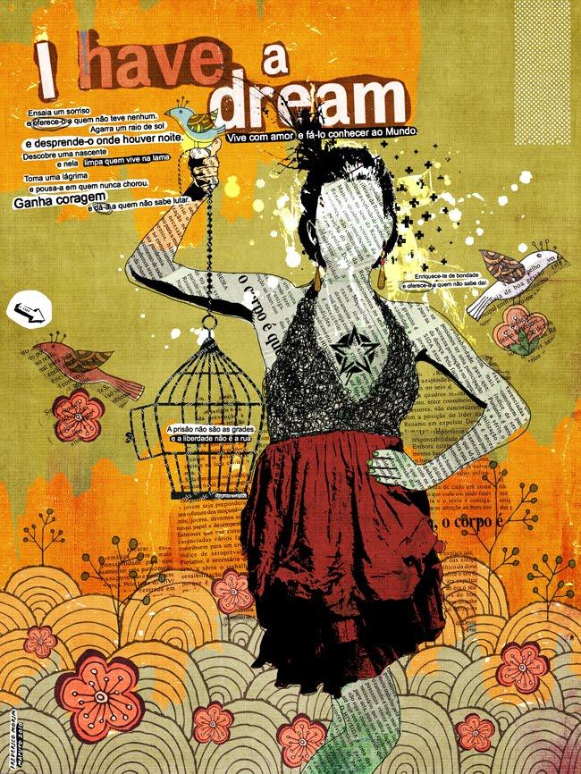 """Have a Dream"" 180x135cm Digitale Kunst 2008 3,500.-"