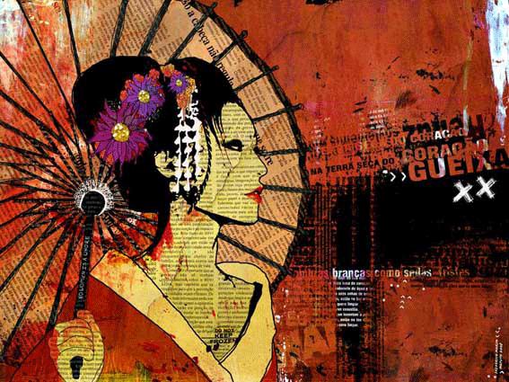 """""""Gueixa"""" 180x135cm Digitale Kunst 2008 3,500.-"""