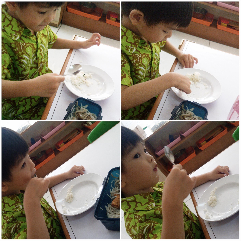 Umur 3 tahun, makan snack lagi setelah kelas selesai