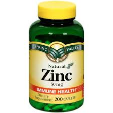 Zinc supplement - take as directed for skin health