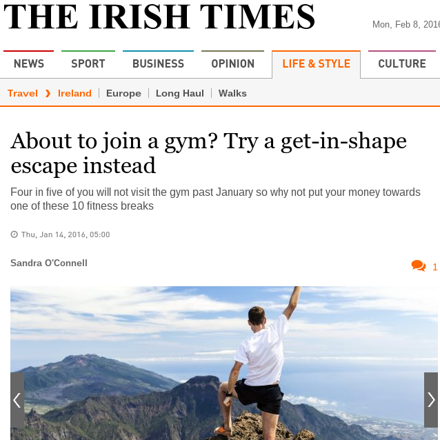 Irish Times, January 2016