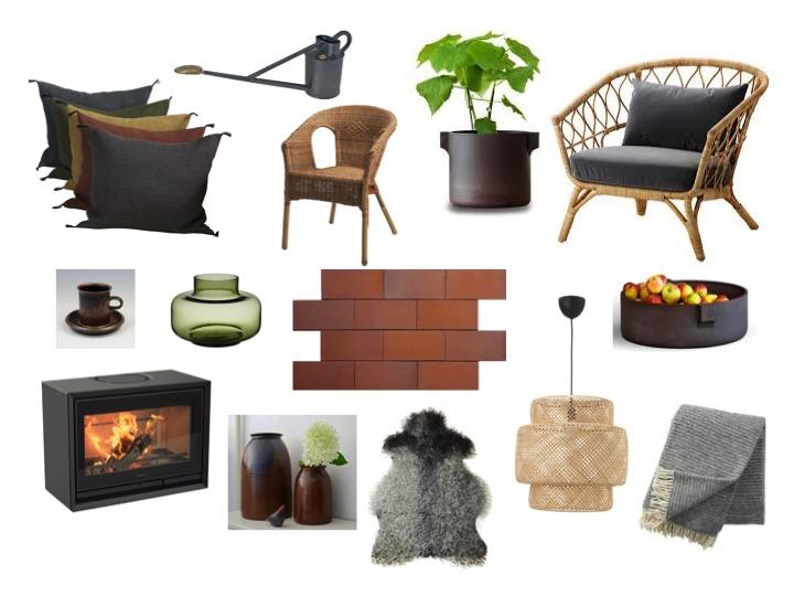 Produkter bland annat från IKEA, Norrgavel, Fogia, Contura, Klippans Yllefabrik och Marimekko.