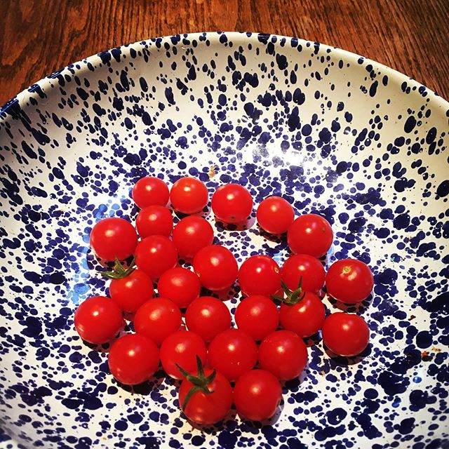 Picking tomatoes from The Farm (my back yard patio) straight in a salad to eat within 10 minutes is rather satisfying... and very tasty.  #localfood #growyourown #thefarm #proudparent #homegrown