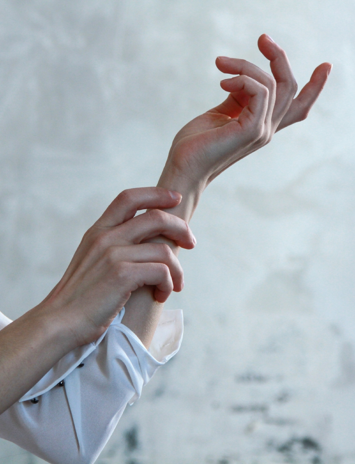 We've talked about touching other people but what about self-touch? We release oxytocin within our body when we touch ourselves. That's why self-touching increases during times of stress and discomfort. Our brain perceives a threat and our body responds with an attempt to bring feelings of comfort. Self-touch increases, usually seen as face-touching, arm rubbing, neck touching, thigh rubbing, finger or nail biting–an almost endless list of self-soothing behaviours. Even movements with the tongue on the lips, or within the mouth, act to facilitate the release of oxytocin. The oxytocin brings comfort with its soothing, calming effect. This process occurs on a subconscious level, the majority of people aren't even aware of their self touch.
