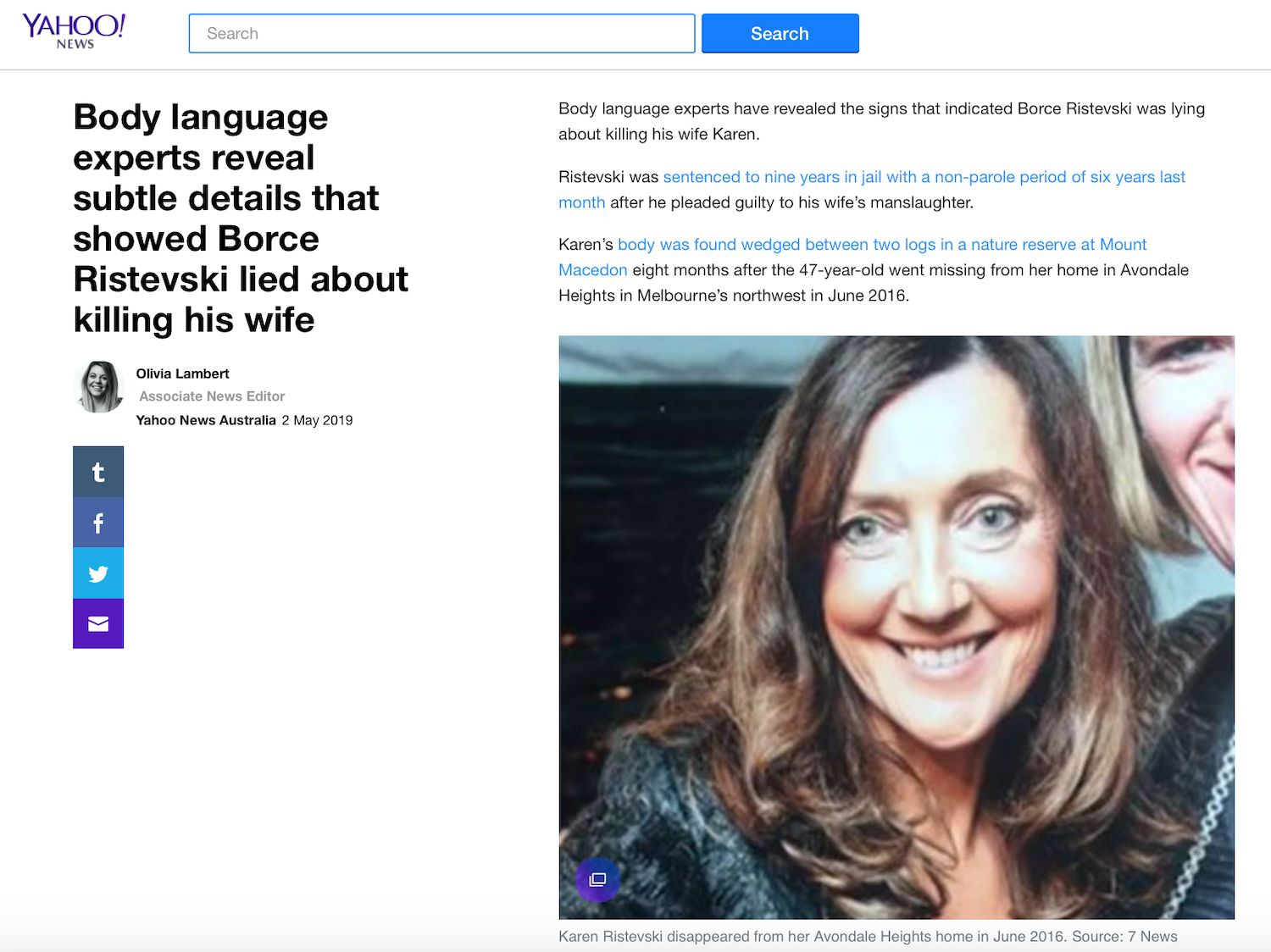 Borce Ristevski Body Language experts reveal subtle details that showed he lied about killing his wife.