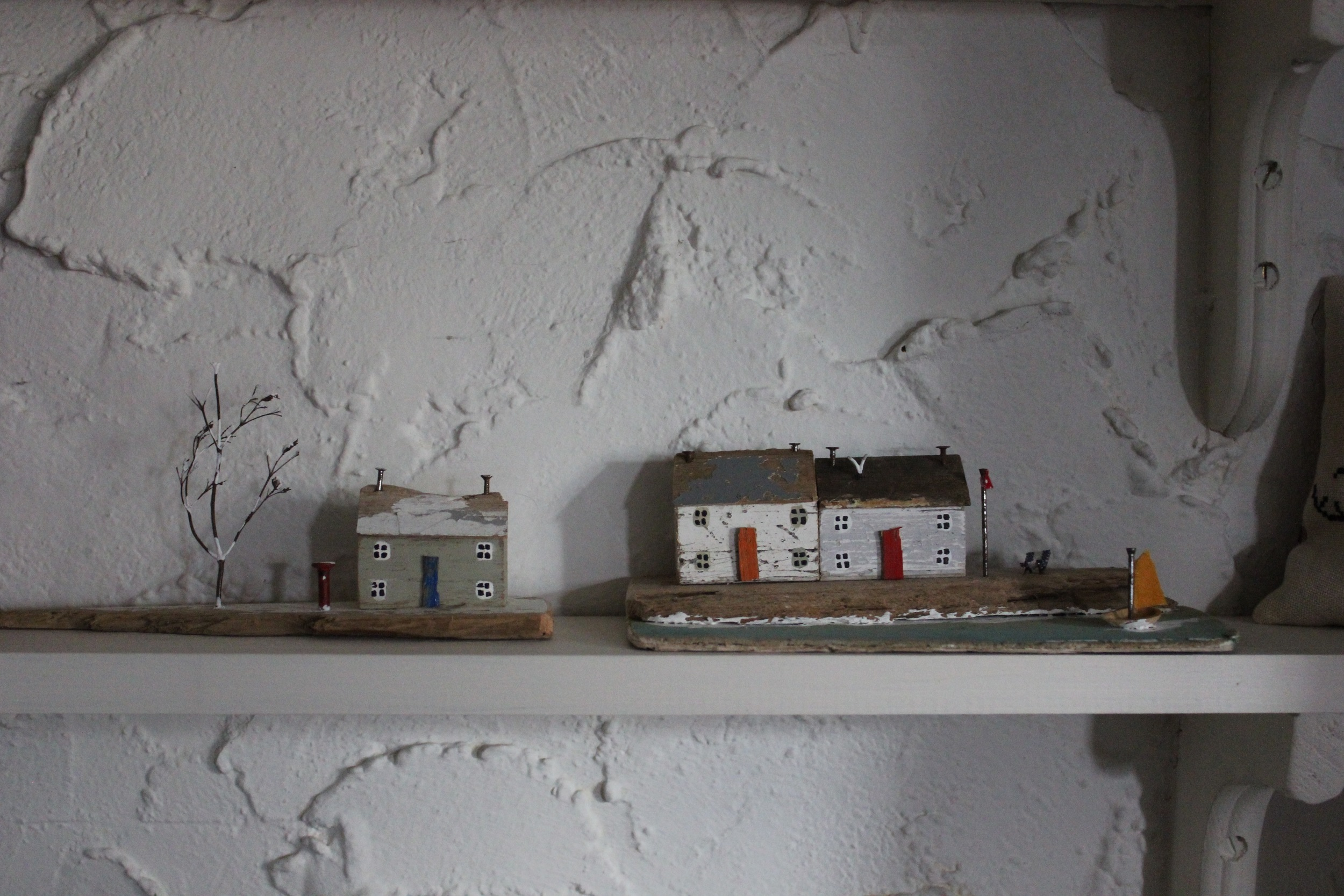 Winter Cottage and Waiting for Summer, both by Kirsty Elson.