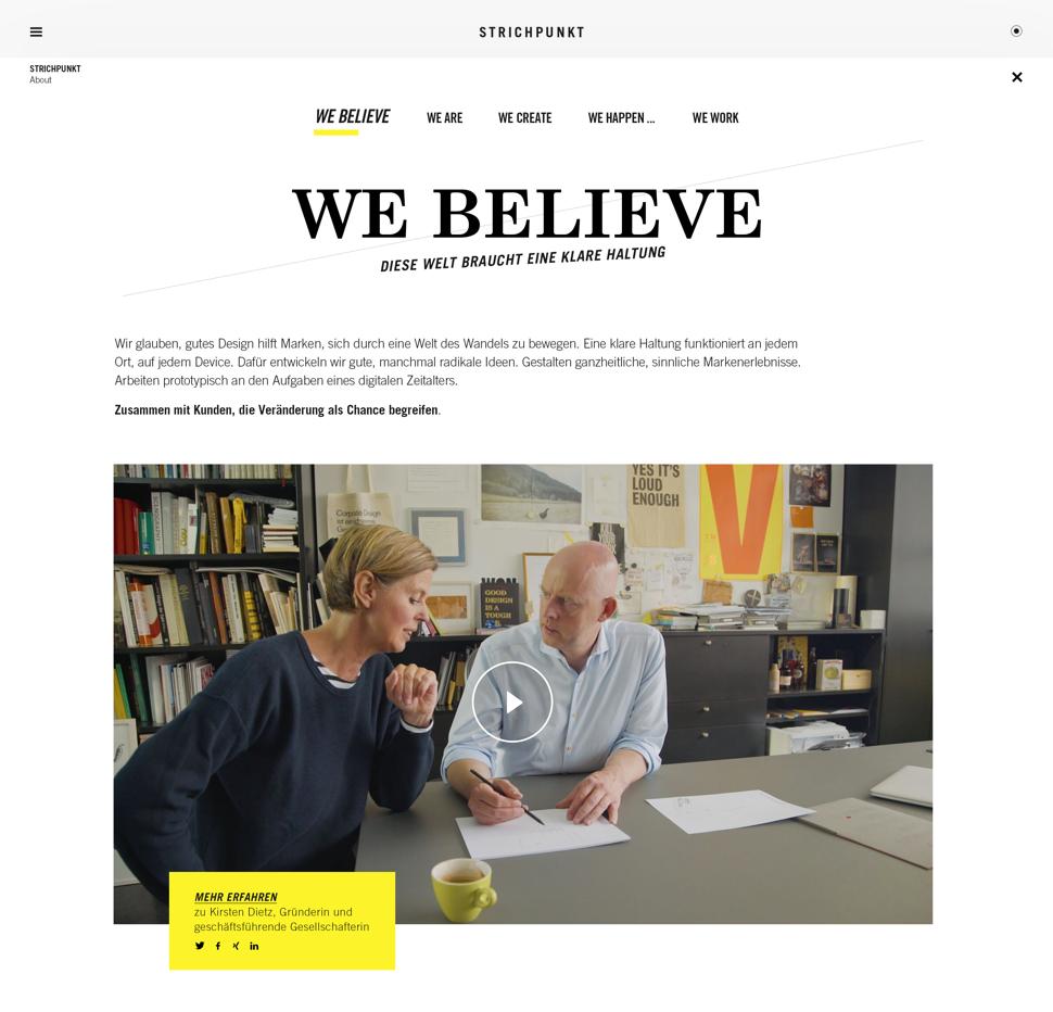 Always beta: Die Website zeigt SP´s Blick auf ein digitales Zeitalter, die große Bedeutung von Analyse und Strategie für exzellentes Design und eine Agentur, die für jedes Medium unverwechselbare Markenerlebnisse schafft.