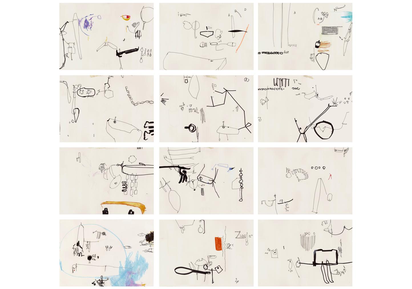 Zeichnungsreihe 'I love Pforzheim' Teil 1-12