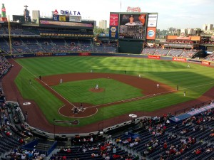 View of Turner Field from the GP suite