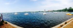 Lake Calhoun on a sunny day.