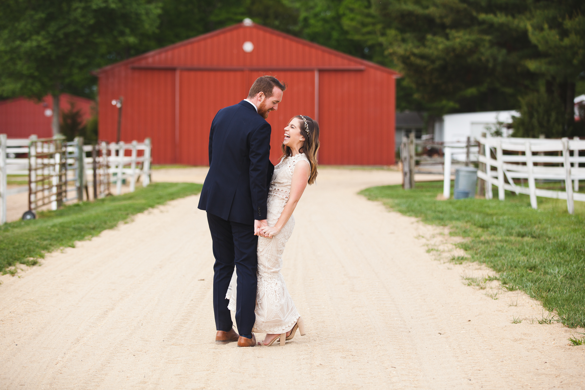 Family Farm Wedding in South Jersey Photography - Rustic Barn NJ - Millville, Vineland, Pittsgrove, Cape May, Ocean City - Creative Photographer, Candid, Joyful, Adventure. Elopement, Casual