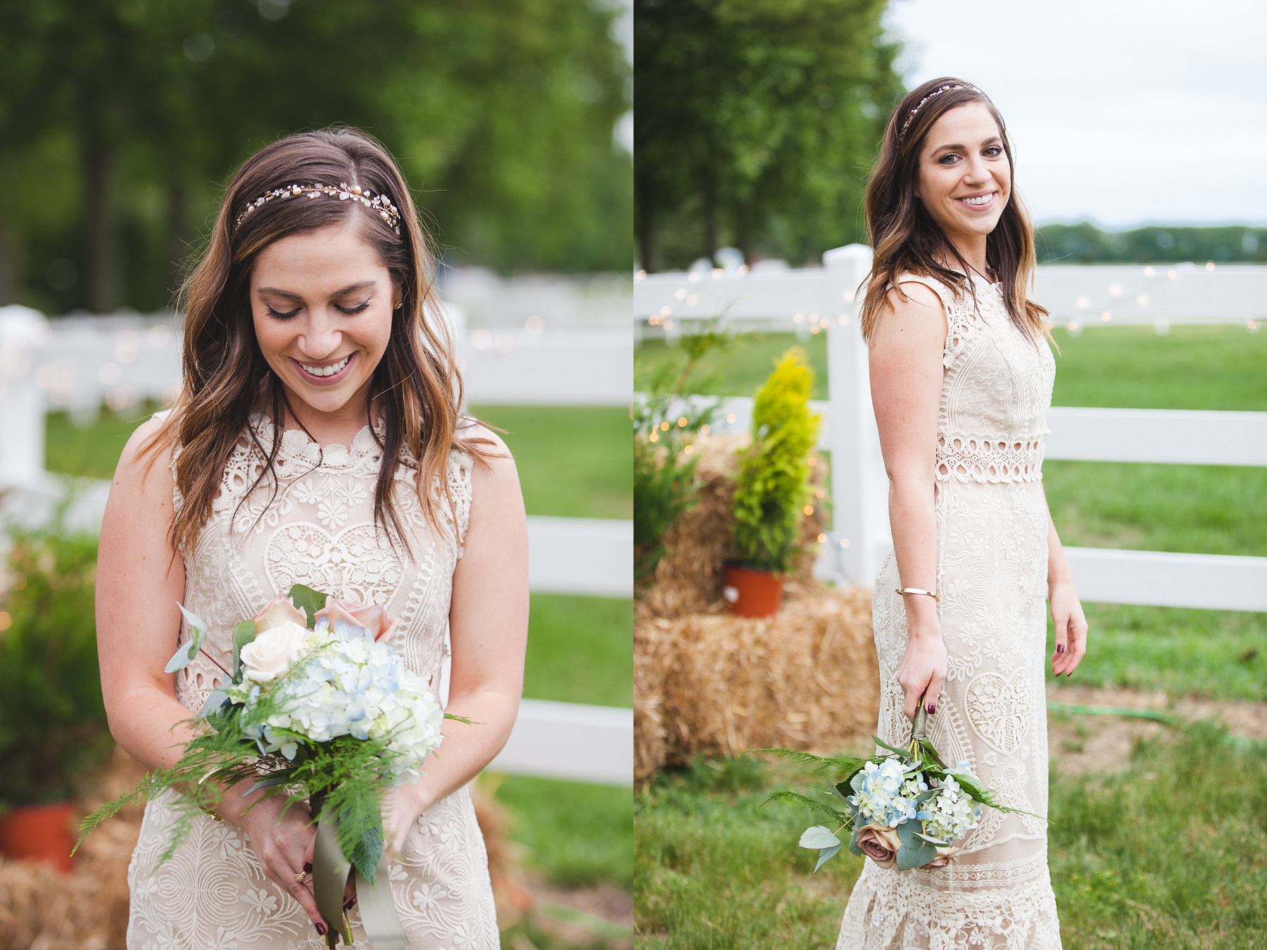 Family Farm Wedding in South Jersey Photography - BHLDN Bride
