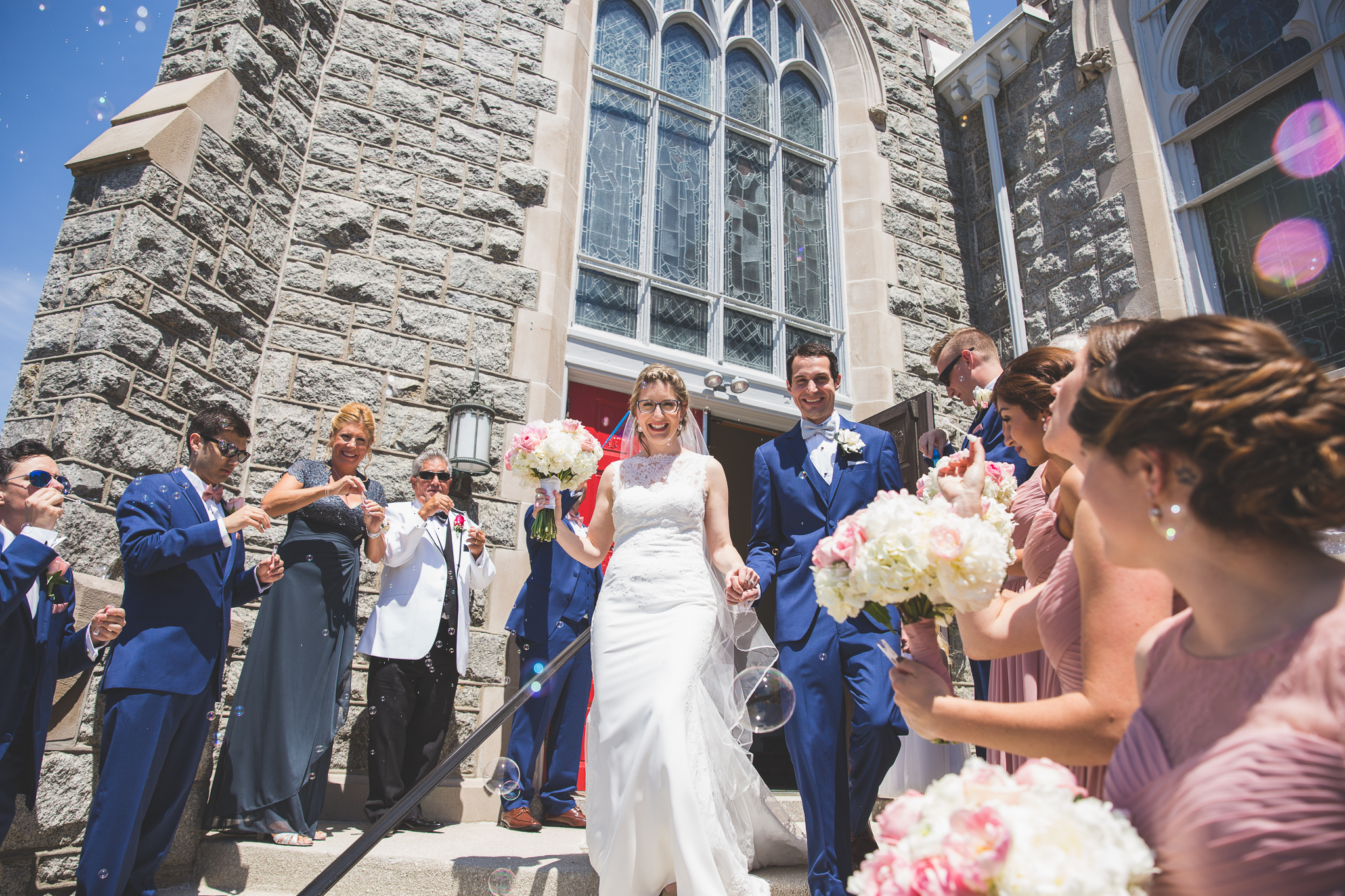 Danielle Salerno Photography Ocean City NJ Wedding Bubble Church Exit