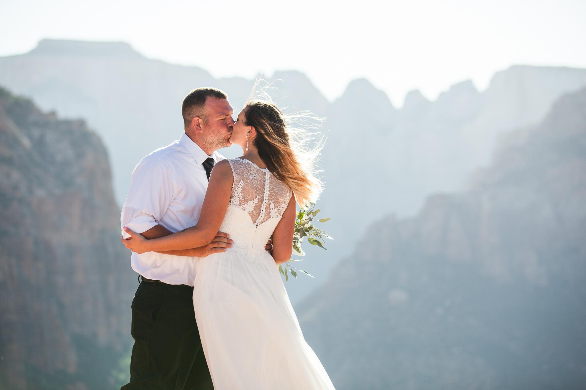 Zion National Park Elopement - Danielle Salerno Photography - Dana and Jason - Adventure Photography , Elopement Photographer