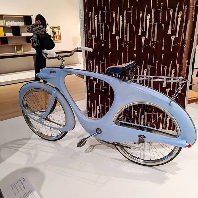 Spacelander bicycle at the MoMA in NYC. Don't make 'em like they used to, huh? It would be sweet in modern day carbon.  #spacelander #bicycle #moma #nyc #mineralcanbesophisticated