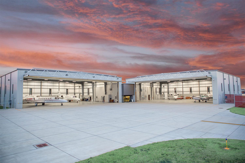 Hangar Sunset Wichita
