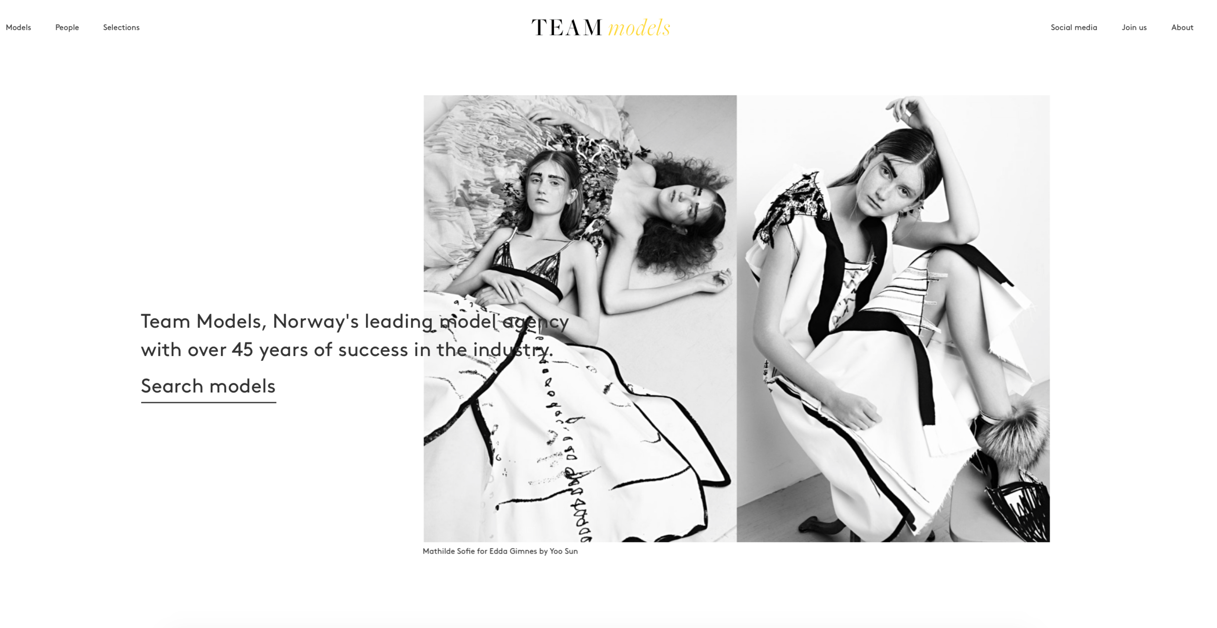 FRONT PAGE TEAM MODELS