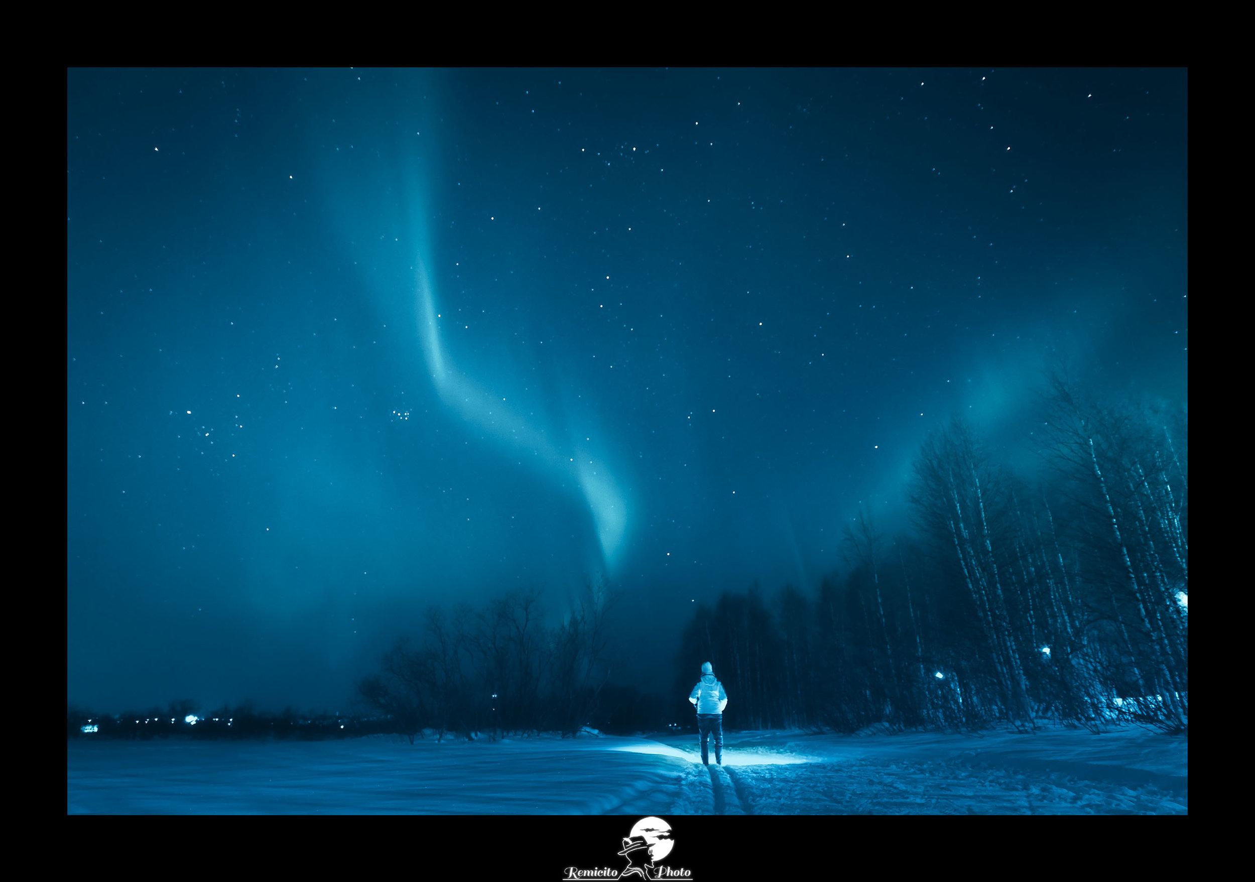 Remicito photo, remicito, image du jour, photo du jour, photo of the day, belle photo aurores boréales finlande, northern lights rovaniemi finland, belle photo ciel finlande, idée cadeau belle photo tirage qualité ciel aurore boréale
