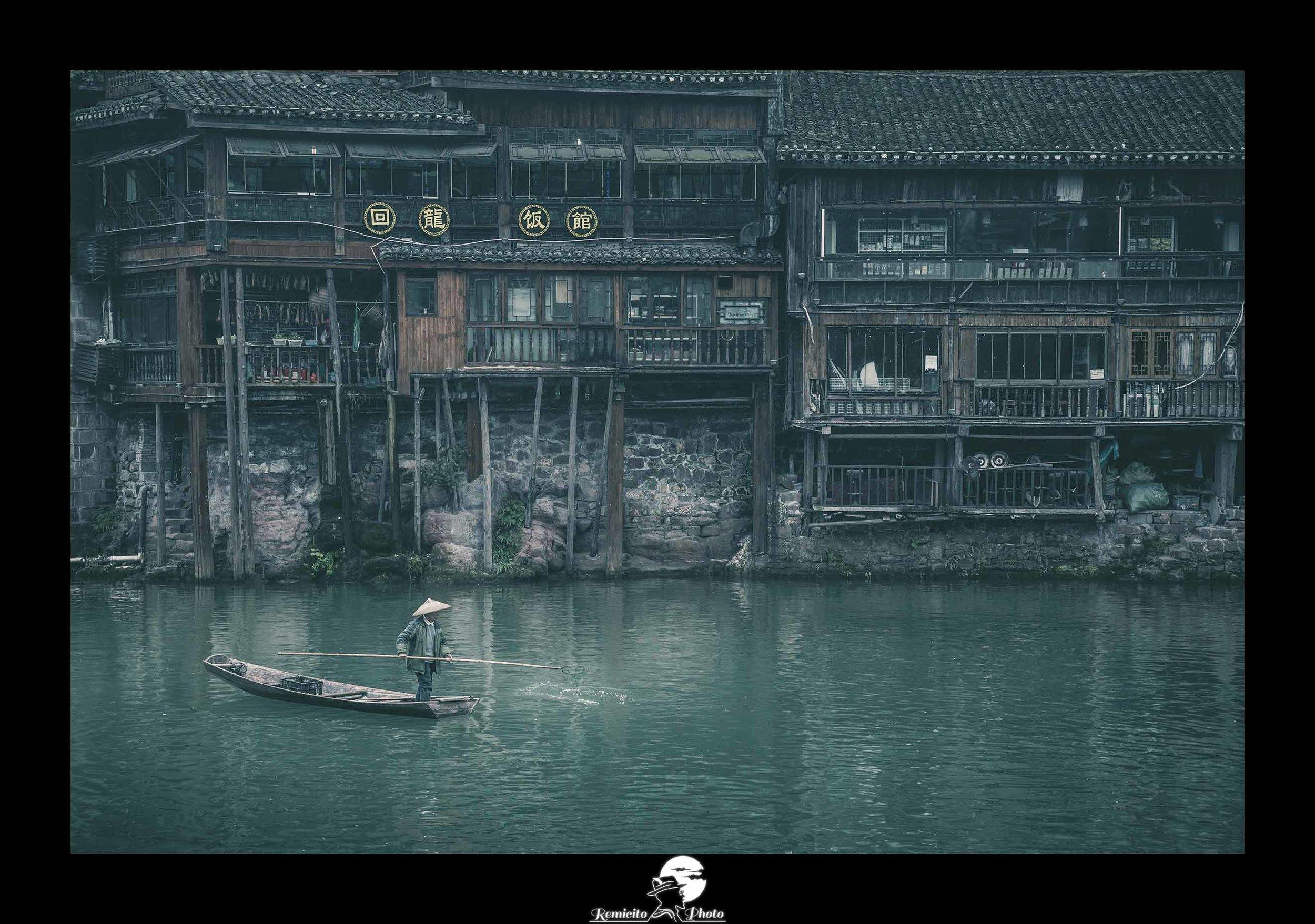 Remicito photo, remicito, image photo voyage pêcheur chine, belle photo voyage chine, photo du jour, fenghuang chine belle photo pêcheur, rivière chine, belle photo idée cadeau