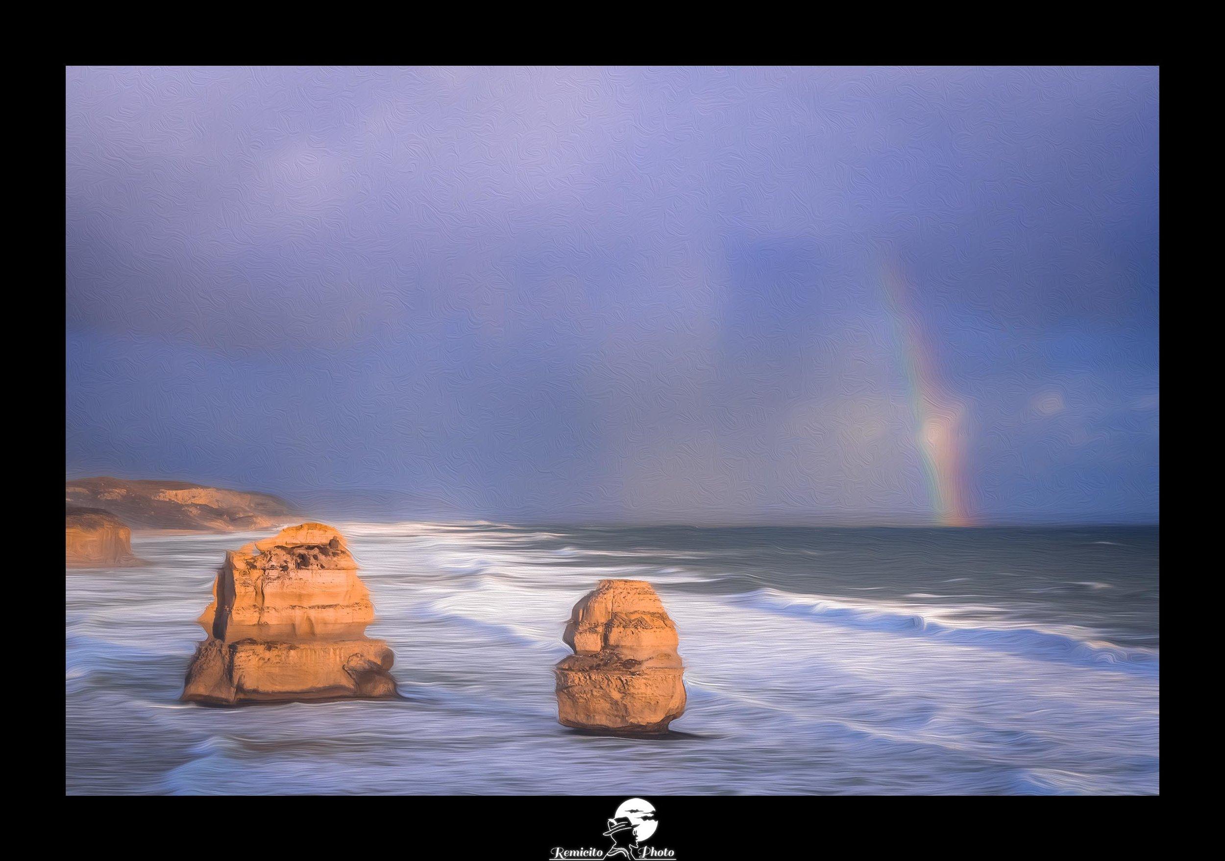 Remicito photo, remicito rémi lacombe photographe paris, belle photo remicito, idée cadeau belle photo arc en ciel, road trip australie great ocean road