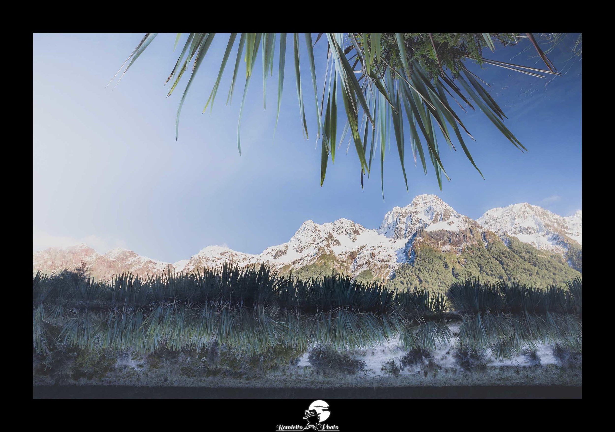 Remicito photo, remicito rémi lacombe photographe paris, belle photo idée cadeau, belle photo lac miroir nouvelle zélande, photo montagne arbres cadeau nature